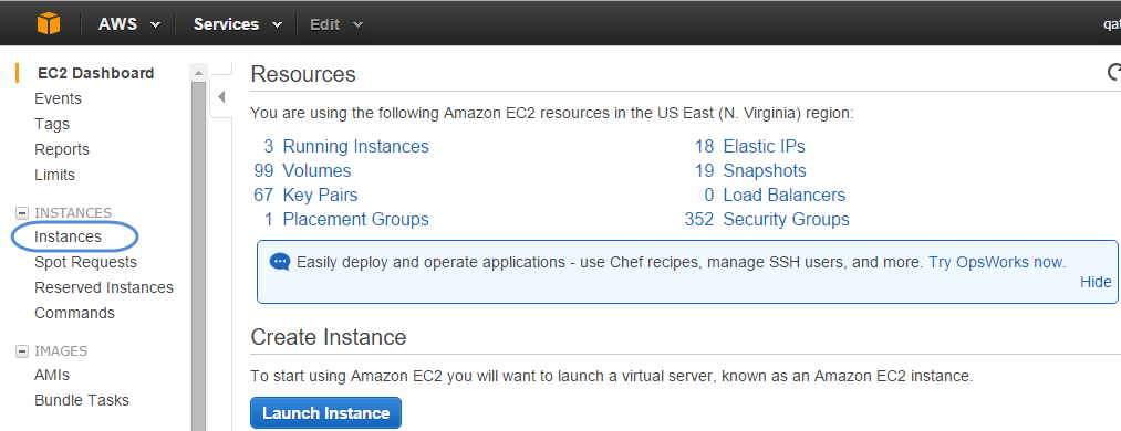 Connecting to an Instance via SSH from the EC2 Console